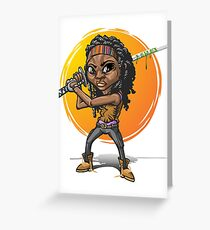 Michonne cartoon style Greeting Card