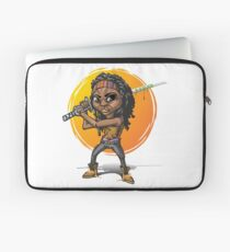 Michonne-Karikaturart Laptoptasche