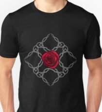 Thorny Rose Ornament - Red Unisex T-Shirt