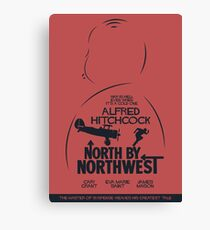 North by Northwest, Hitchcock, movie poster, alternative, thriller, minimal, Intrigo Internazionale Canvas Print