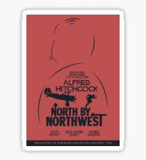 North by Northwest, Hitchcock, movie poster, alternative, thriller, minimal, Intrigo Internazionale Sticker