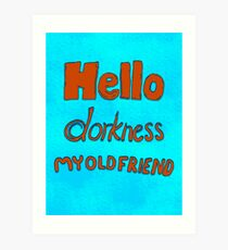 Hello Dork Art Print