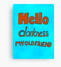 Hello Dork Canvas Print