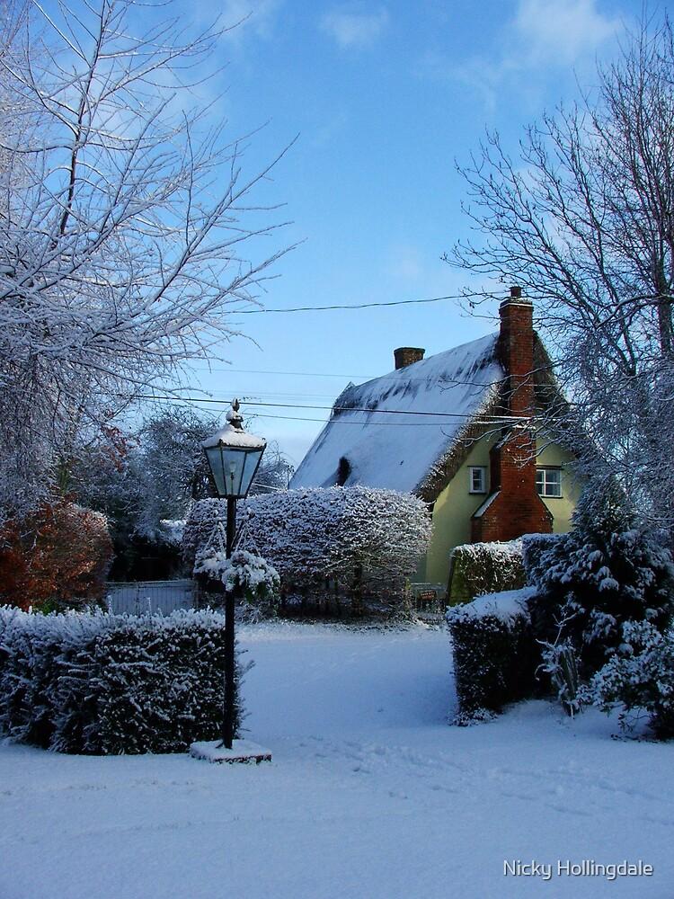 Snow Cottage by Nicky Hollingdale