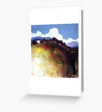 Abstract nature landscape Greeting Card