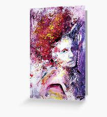 Struck by her grace, Abstract portrait Greeting Card