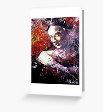 Stronger than sorrow, Abstract Portrait  Greeting Card