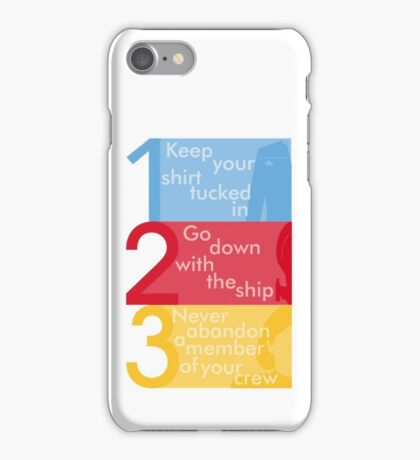 Captain Janeway's Three Rules iPhone Case/Skin