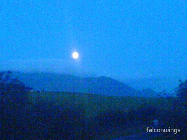 mountain moon by falconwings