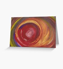 Earth Storm Watercolour Greeting Card
