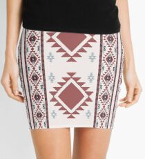 Abstract ethnic background. Navajo design Mini Skirt