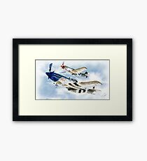 "P51 Mustangs ""Little Friends"" Framed Print"