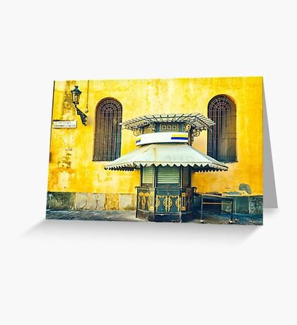 Old Italian Newsstand Greeting Card