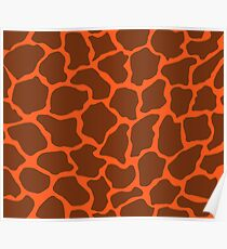 Giants Orange in Giraffe Pattern  Poster