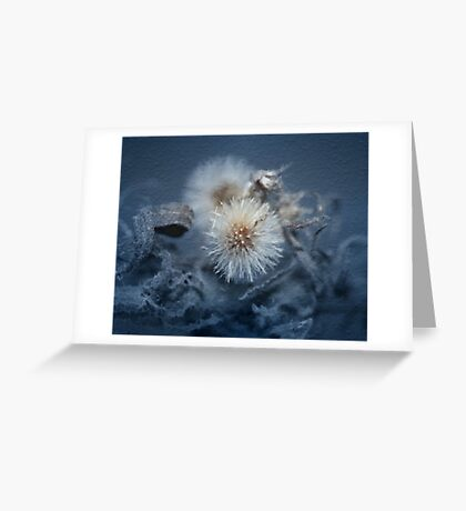 Dandelion Blues still-life Greeting Card