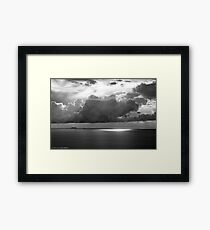 Stormclouds Over Gulf Framed Print