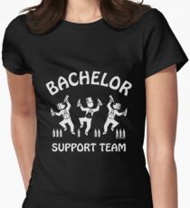 Bachelor Support Team / Beer Drinkers (Stag Party / White) Womens Fitted T-Shirt