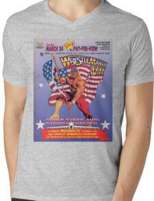 Wrestle Mania VII Mens V-Neck T-Shirt
