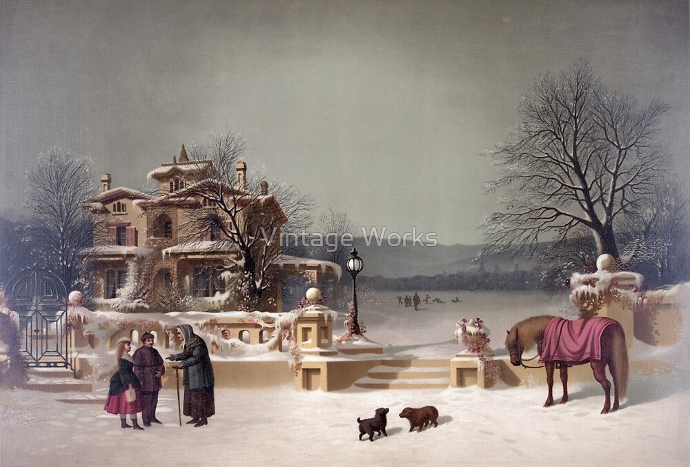 American Winter Scene by Vintage Works