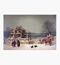 American Winter Scene Photographic Print