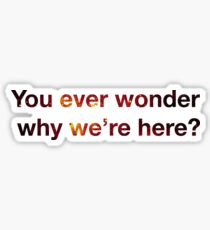 You ever wonder why we're here? Sticker