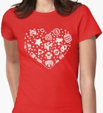Love and Luck To The Heavens Womens Fitted T-Shirt