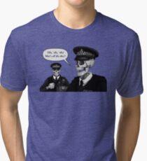 Skeleton Police (Blue) Tri-blend T-Shirt