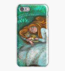 Sleeping with cat iPhone Case/Skin