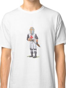 Knight Templar in armour with sword. Classic T-Shirt