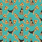 Airedale Terrier Dog pizza pattern dog breed customized pet portrait by pet friendly by PetFriendly by PetFriendly