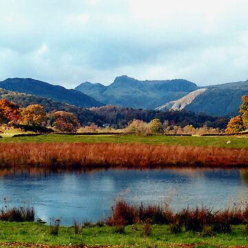 River Brathay and the Langdale Pikes by GHewstone