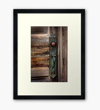 Textured Elegance of the Past Framed Print