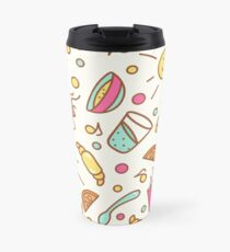 Cozy pattern with breakfast items Travel Mug