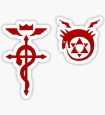 Fullmetal Alchemist Ouroboros + Flamel Red Sticker