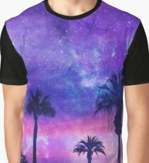 Mystic Tropical Beach Scenery Graphic T-Shirt