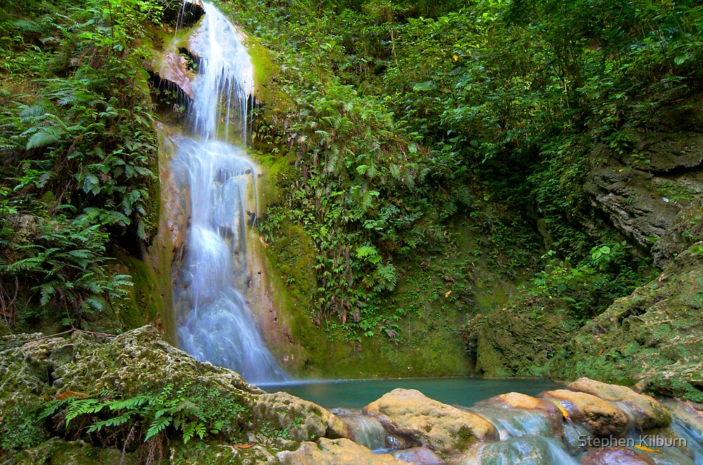 Quot Cascades Waterfall Vanuatu Quot By Stephen Kilburn Redbubble