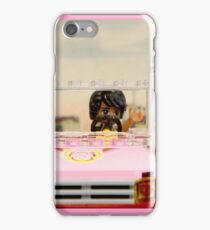 Legoman arrives to town streetscape iPhone Case/Skin