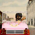 Legoman arrives to town streetscape by Veera Pfaffli