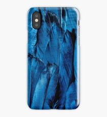 Blue Feather Close Up iPhone Case