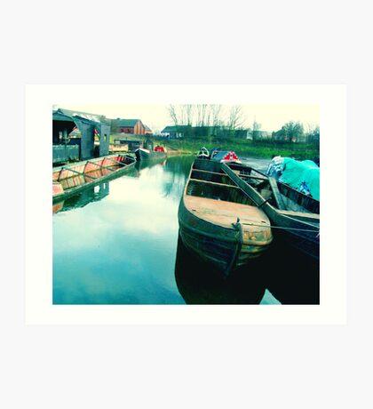 Abandoned Boats Art Print
