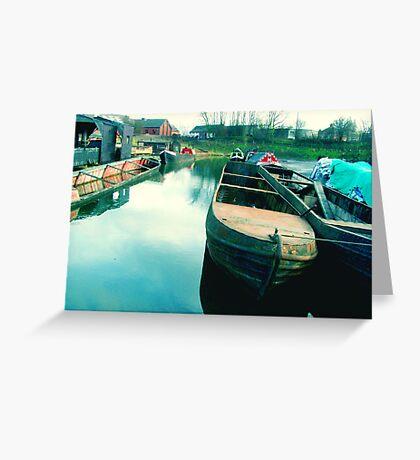 Abandoned Boats Greeting Card