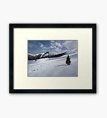 Titlis Mountain Range. Framed Print