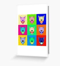 Bull Terrier Pop Art Greeting Card