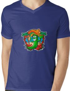 Mexican Pepper With Tacos Mens V-Neck T-Shirt