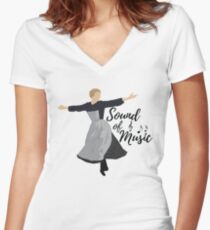 Sound of Music Women's Fitted V-Neck T-Shirt