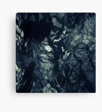 Black paper Canvas Print