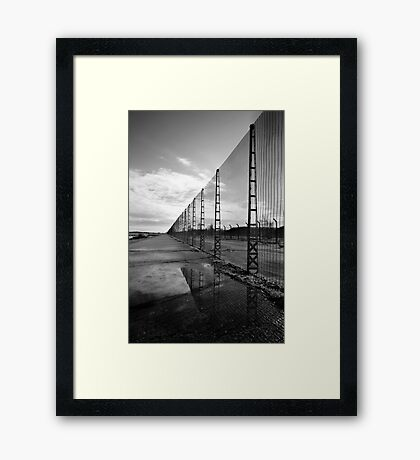 Perimeter Fence, Missile Silos - Greenham Common Framed Print