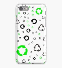 pattern with recycle symbols. iPhone Case/Skin
