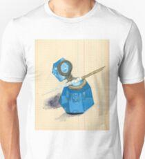 Blue Crystal Inkwell & Dip Pen in Gouache T-Shirt