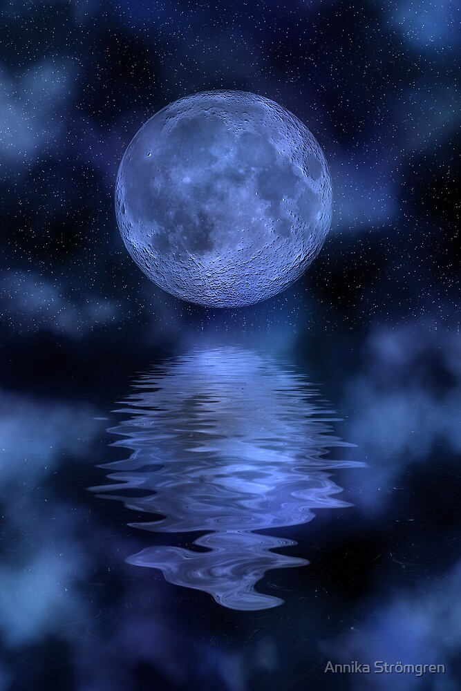 Blue moon by Annika Strömgren